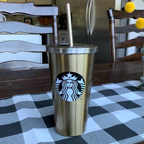 Starbucks Cold Beverage Tumbler 16oz. Gold